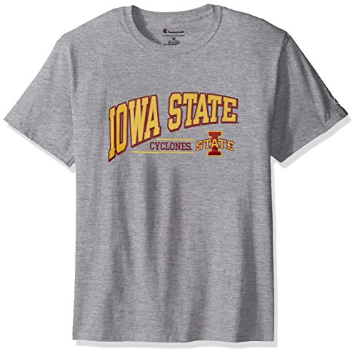 Iowa State Mens Shorts - NCAA Iowa State Cyclones Men's Champ Short sleeve T-Shirt 4, XX-Large, Oxford Heather