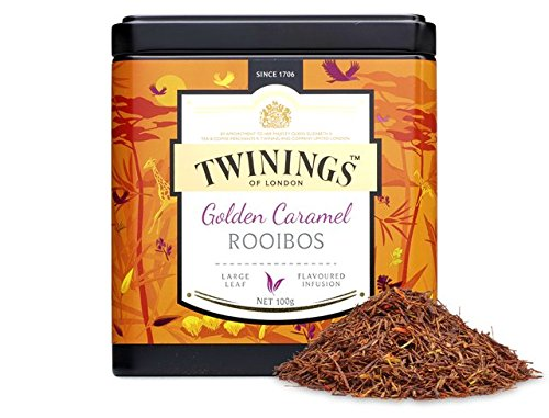 Twinings Tea - Discovery Collection - Golden Rooibos and Caramel - 100gr / 3.52oz Caddy Loose - Rooibos Twining Tea