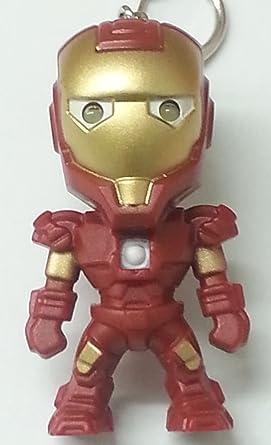 Llavero Iron Man, LED luz y sonido: Amazon.es: Iluminación