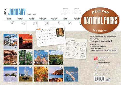 National Parks 2015 Desk Pad
