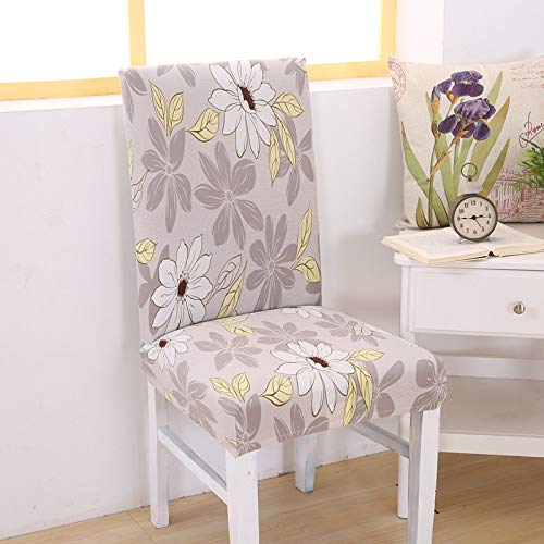 SHANYT Chair Cover Printing Detachable Leisure Chair Cover Stretch Elastic Sliding Restaurant Wedding Banquet Folding Hotel Seat Cover -I,Universal ()