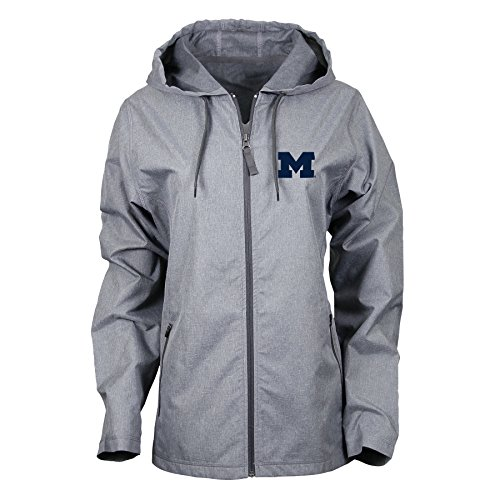Ouray Sportswear NCAA Michigan Wolverines Adult Women W Venture Jacket, Large, Charcoal Heather