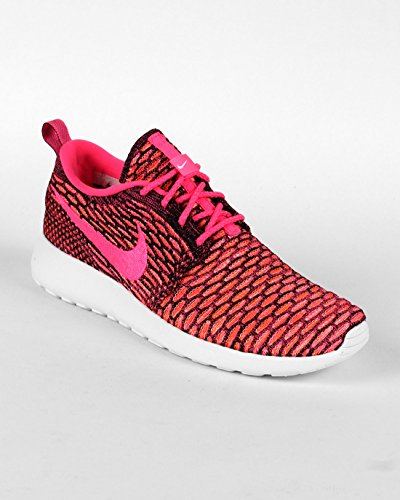 hot sale online ce26a dcbfb Galleon - Nike Womens WMNS Rosherun Flyknit Black Pink Pow-White-Total  Orange Synthetic Size 6 Running, Cross Trainers