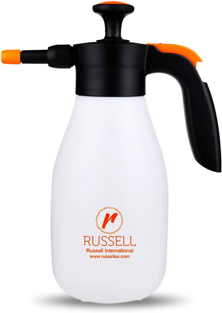 Russell-1010, 1 Liter, Pressure Sprayer, Handheld Heavy Duty Multi Sprayer, Insecticide Sprayer, One Hand, Ergonomic Grip, Gardening, Fertilizing, Cleaning, Indoor, Window Tint and General Use Spray