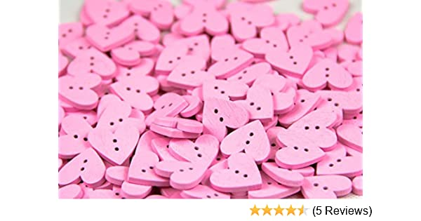NEW 10 PC PKG 5//8 INCH WHITE HEART SHAPED BUTTONS