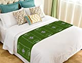 Custom Soccer Ground Bed Runner,Soccer Ground Bed Runner Bedding Scarf Bed Decoration 20x95 inch