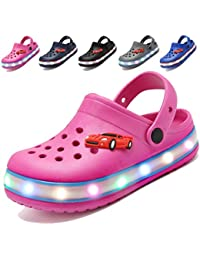 Children Girls Boys LED Clogs Flash Lighted Sandals Shoes,Summer Breathable Slippers