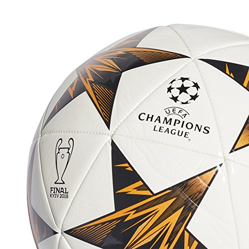 Genuino Violar mero  adidas Champions League Finale Kiev Capitano Soccer Ball, White/Orange,  Size 5- Buy Online in Dominica at dominica.desertcart.com. ProductId :  55134940.
