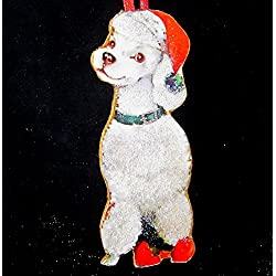 White Poodle Ornament Handcrafted Wood Christmas Dog Lover s Gift 8ca2efdeb