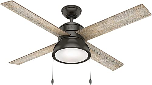 Hunter Fan Company Hunter 54152 Restoration 52 Ceiling Fan from Loki collection Dark finish, Noble Bronze