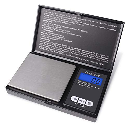 Digital Pocket Scale, high accuracy within 1000g/0.1g, Personal Nutrition Scale with LCD Back-Lit Display for Food, Medicine, Jewelry in Kitchen, Lab, Shop (Battery Included)
