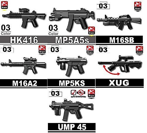 - Custom Modern Warfare Weapons Pack Designed for Lego Minifigures