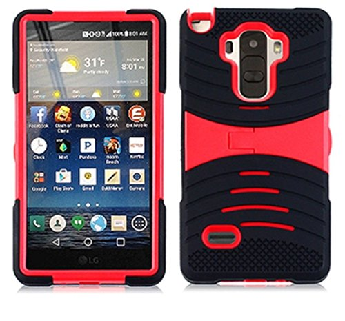 uBLACK/RED Phone Case Cover for LG G Stylo/Stylus / LS770 / H631
