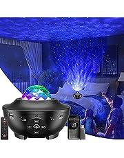 Star Projector, Galaxy Projector with Bluetooth Speaker, Ocean Wave Projector with LED Nebula/Timer, Galaxy Night Light with 10 Color, Star Light projetor for Kids Bedroom, Projecteur Portatif ,Black