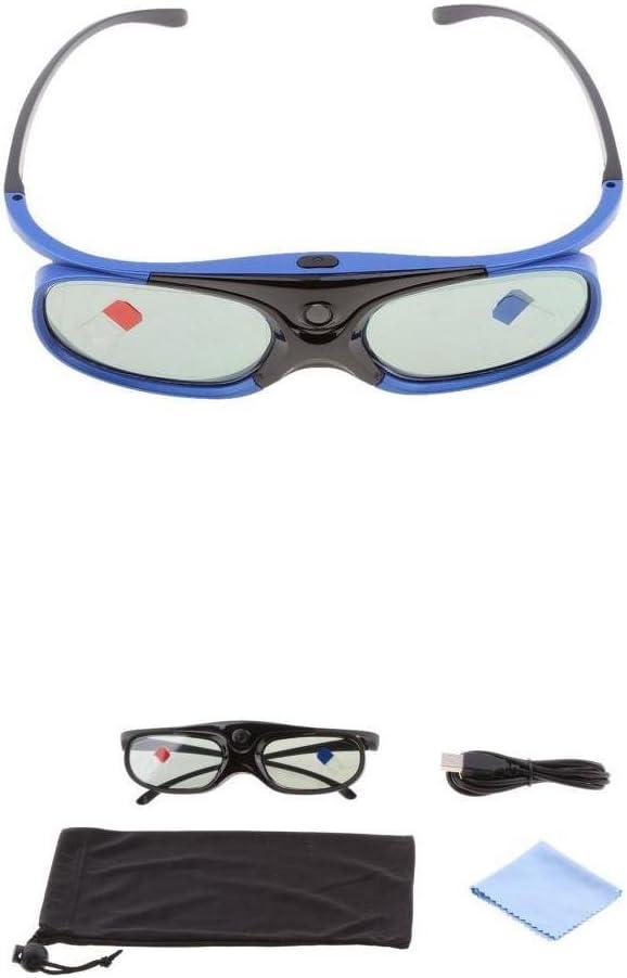 MagiDeal 2X Lunettes 3D Vision pour Projecteurs de DLP-Link Acer//BenQ//Optoma