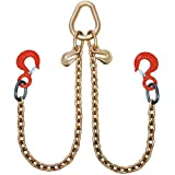 Vulcan ProSeries Grade 70 Standard Length Towing Chain Bridle With Rigging Hooks - 4700 lbs. SWL (42'')
