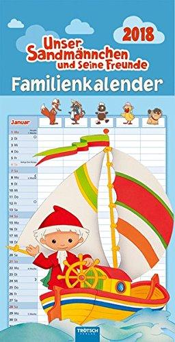 Familienkalender Unser Sandmännchen 2018: Mit Ausmalbildern und Geschichten