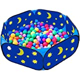 Eggsnow Kids Ball Pit Playpen Toddler Ball Play Pool ,Blue Baby Ball Play Pit with Zippered Storage Bag Ideal for Toddlers,Pets,Indoor and Outdoor,Balls Not Include(42 Inch)