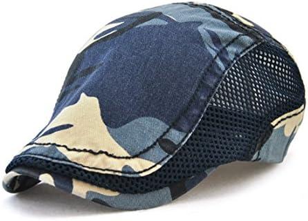 Roffatide 迷彩 コットン メッシュ パッチワーク ハンチング帽 ゴルフ帽子 ベレー帽 キャップ