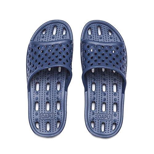 pantofole fast uomini fankou di Blu trascinare esposto cool bagno e spesso e acqua dry Perdite matura trascinando slittamento scuro scarpe anti donne CgCqwtXn
