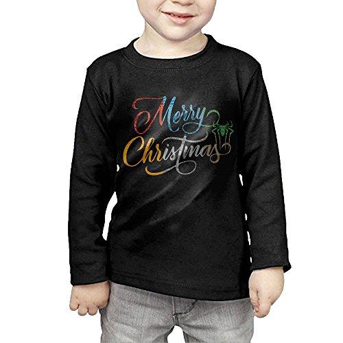 Kid's Unisex Merry Christmas Spider Man Long Sleeve T Shirt