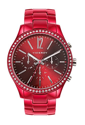 Viceroy Women's 46856-95 Red Stainless-Steel Band Watch.