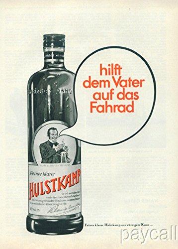 1968 Print Ad HULSTKAMP Dutch Gin Alcohol Drink - Dutch Gin
