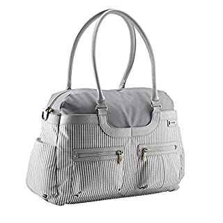 JJ Cole Circle Strip Satchel Diaper Bag, Grey