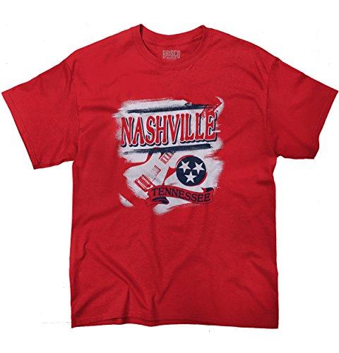 - Classic Teaze Nasville Tennessee T Shirt State Flag Guitar TN Tee