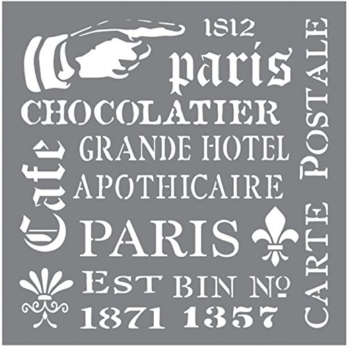 Deco Art Andy Skinner Mixed Media Stencil, 8