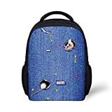 Preschool Backpack, Little Kid Backpacks for Boys and Girls Rat Drill Jeans Hole