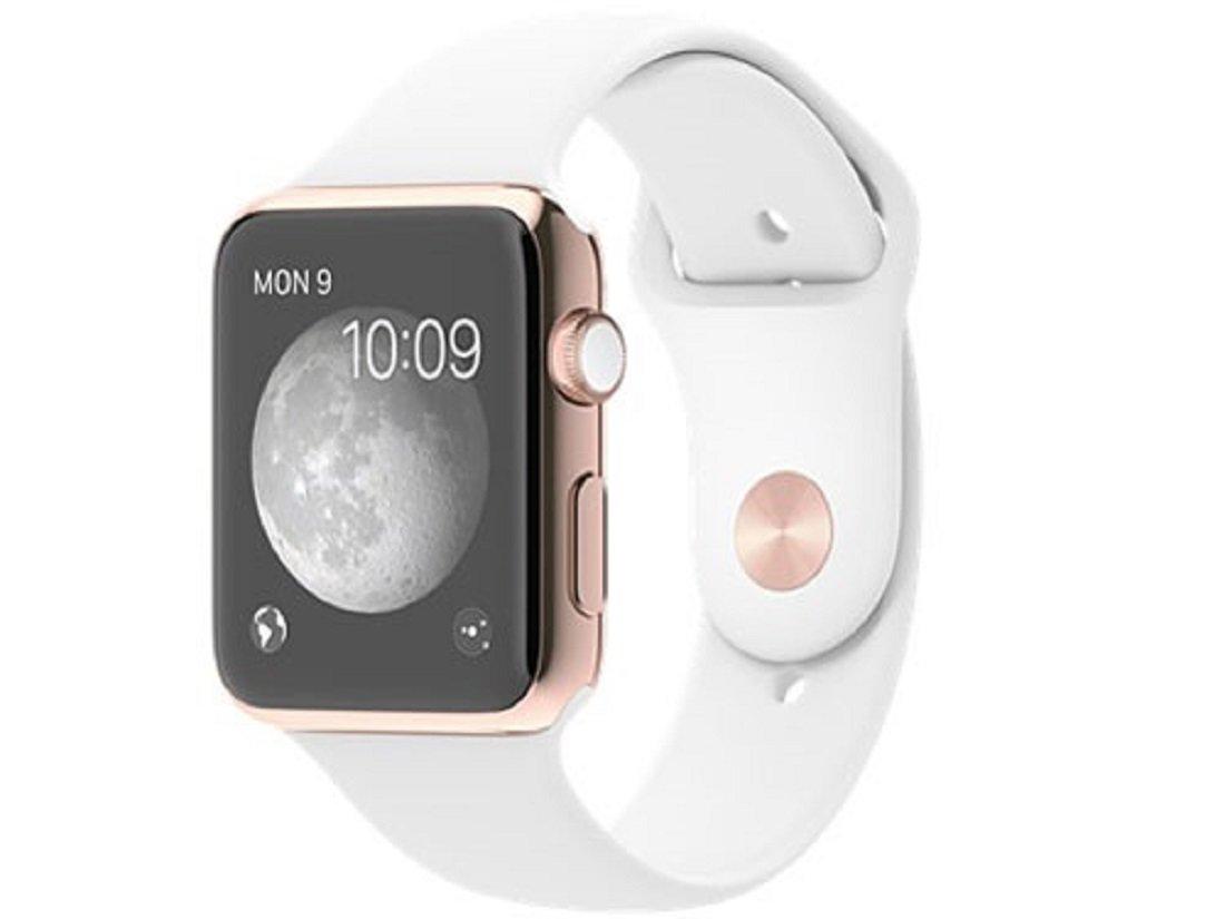 Apple Watch Edition 42mm MJ4A2J/A [18Kローズゴールドケース/ホワイトスポーツバンド]