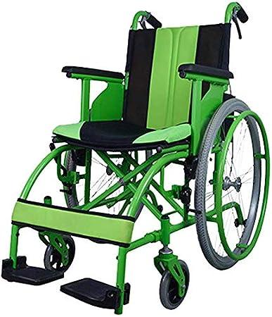 CHAIR Silla de ruedas, silla de rehabilitación médica para personas mayores, personas mayores, silla de ruedas de transporte de aleación de magnesio Lite, marco liviano y plegable, silla de ruedas pr