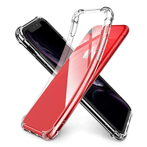 UGREEN Phone Case Compatible for iPhone XR 6.1 Inch Case Premium Clear Soft TPU Gel Slim Fit Transparent Flexible Smartphone Cover Compatible for iPhone XR 2018 Clear White