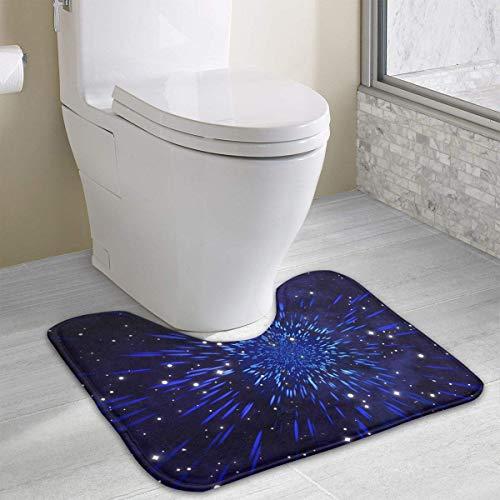 Beauregar Star Contour Bath Rugs,U-Shaped Bath Mats,Soft Memory Foam Bathroom Carpet,Nonslip Toilet Floor Mat 19.2″x15.7″