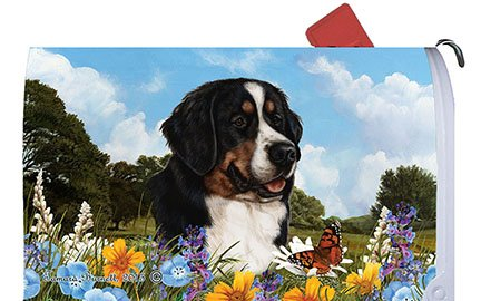 Bernese Mountain Dog Mail Box Cover