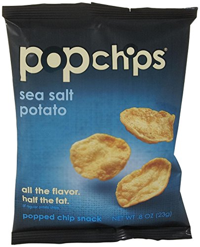 082666711001 - Popchips Potato Chips, Sea Salt Flavor, 0.8oz (Pack of 24) carousel main 0
