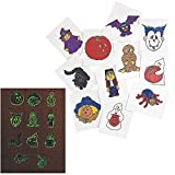 Toys : Glow-In-The-Dark Halloween Tattoos (6 Dozen) - Bulk
