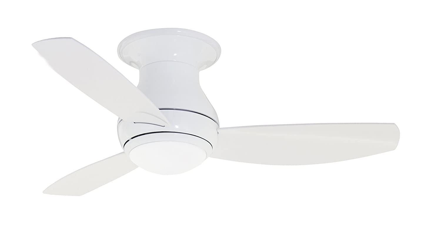 Emerson Ceiling Fans Cf144ww Curva Sky Modern Low Profile Hugger Indoor Outdoor Fan With Light And Remote 44 Inch Blades Appliance White Finish