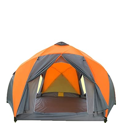 10 Personnes Double Portes Tente De Camping Tentes Extérieures Imperméables De Haute Qualité Imperméables De Moustique D'hexagon