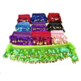 BellyLady Wholesale 10Pcs Belly Dance Hip Scarves Belts, Halloween Gift Idea