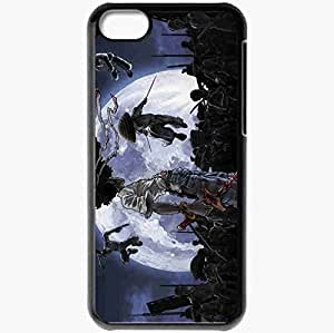 Personalized iPhone 5C Cell phone Case/Cover Skin Afro Samurai Black