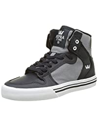Supra Children (Youths) Vaider Dk. Grey Grey White Skate Shoes