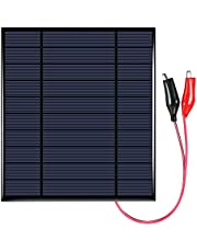 SDADS 2.5W 5V Polycrystalline Silicon Solar Panel with Alligator Clips Solar Cell for DIY Power Charger