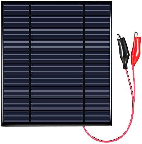 Tidyard 2.5W 5V polykristallines Silikon-Sonnenkollektor mit Krokodilclip-Solarzelle für DIY Energie-Ladegerät