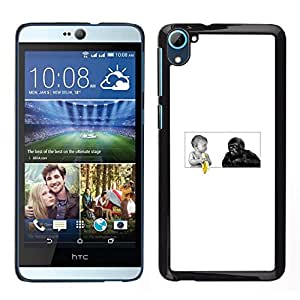 All Phone Most Case / Oferta Especial Duro Teléfono Inteligente PC Cáscara Funda Cubierta de proteccion Caso / Hard Case HTC Desire D826 // Funny Baby - Banana And Gorilla Monkey
