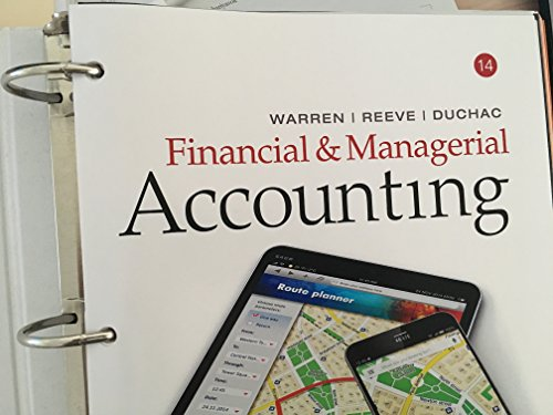 Financial & Managerial Accounting, Loose-Leaf Version