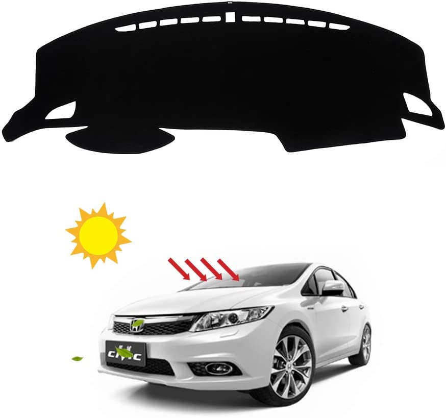 BLAKAYA Compatible with Auto Car Dashboard Carpet Dash Board Cover Mat Dash Protector for Honda 10th Civic 2016 2017 2018 2019 2020 Sun Cover Pad