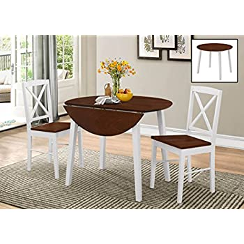 amazon com kings brand furniture 3 piece wood dinette drop leaf