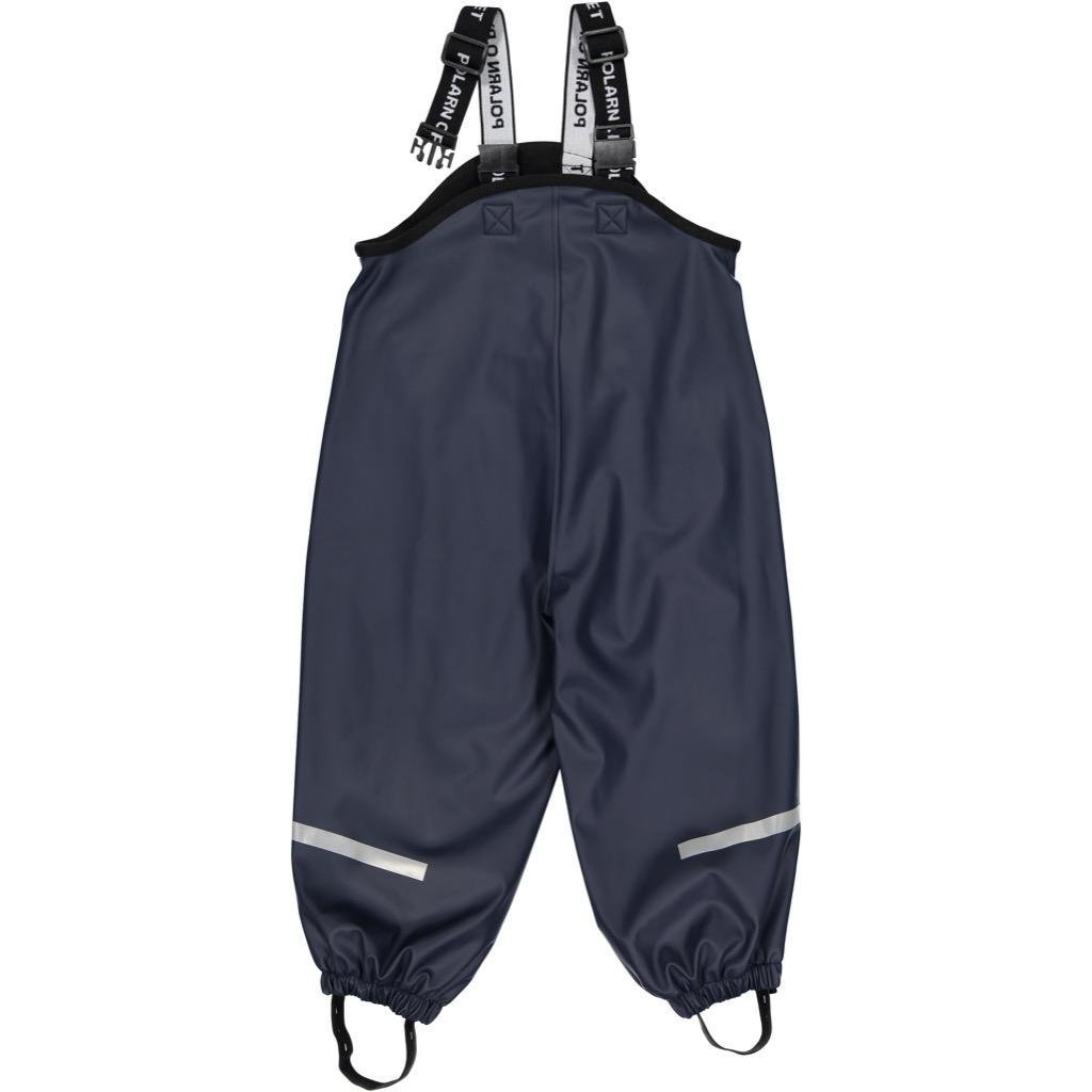 Polarn O. Pyret Fleece Lined Waterproof RAIN Pant (2-6YRS) - Dark Sapphire/4-6 Years